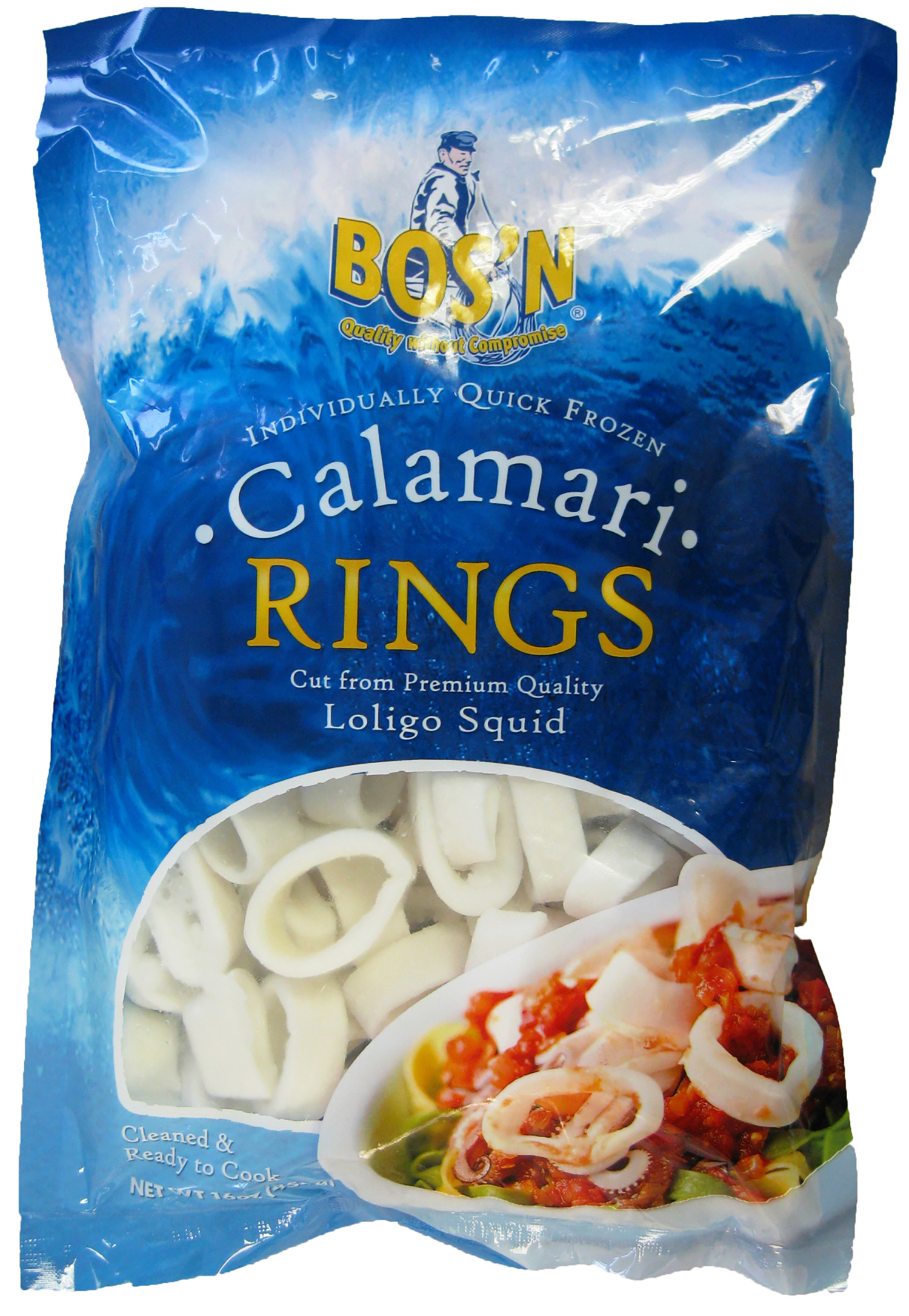 BOS'N IQF Rings Only Calamari | Stavis Seafoods